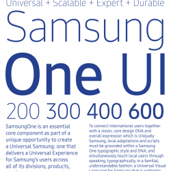 Samsung Introduces SamsungOne Fonts