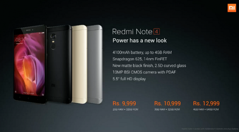 250,000 Xiaomi Redmi Note 4 Sold Out in 10 minutes on First Flash Sale in India