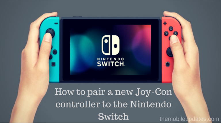 How to pair a new Joy-Con to the Nintendo Switch
