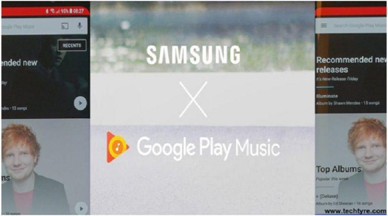 Samsung Galaxy S8 with Default Google play Music
