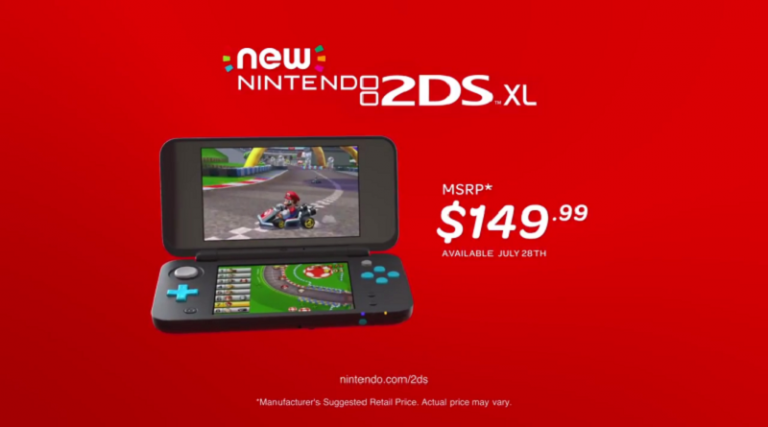 New Nintendo 2DS XL Officially Revealed for $149.99 Releasing in Summer 2017
