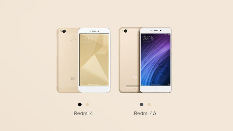 HURRY !! The Pre-Orders sale is started for Xiaomi Redmi 4A and Redmi 4 on Mi.com