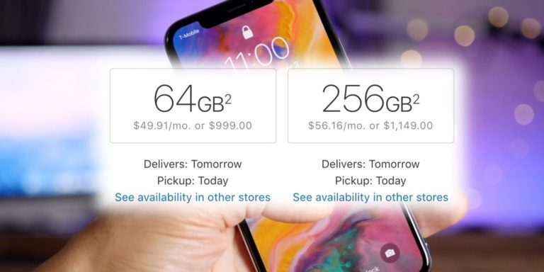 iPhone X Models Are Now Available For Next Day Delivery From Apple Online Stores